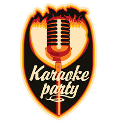 Sticker for a karaoke party vector