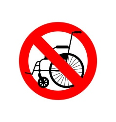 Stop wheelchair Prohibited disability Ban for vector