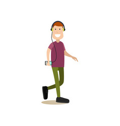street people flat vector image
