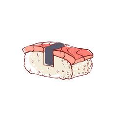 sushi nigiri with salmon isolated icon vector image