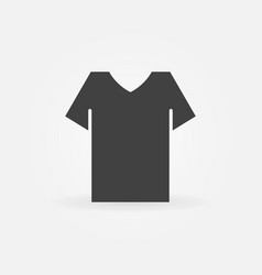 t-shirt minimal icon vector image