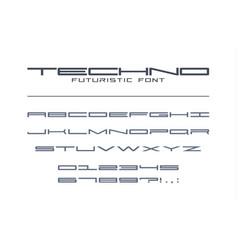 techno futuristic wide font geometric sport vector image