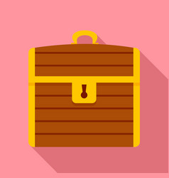 treasure chest icon flat style vector image