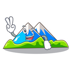 Two finger miniature mountain in the character vector