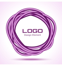Violet Hand Drawn Thick Ware Circle vector image