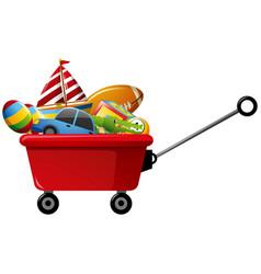 Wagon full of toys vector