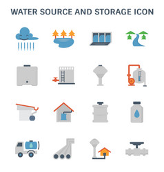 Water source icon vector