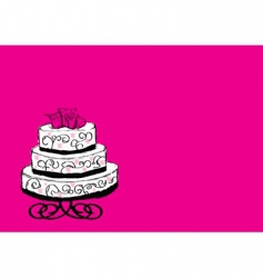 Wedding cake sketch vector
