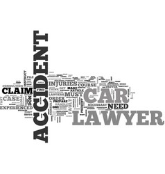 When should you instruct a car accident lawyer vector