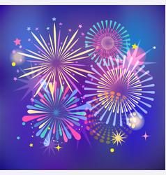 winner victory fireworks and celebration vector image
