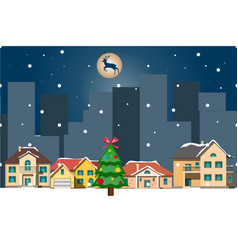 winter landscapechristmas background with houses vector image
