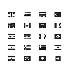 World flag icons on white background vector