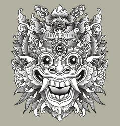 balinese barong traditional mask vector image