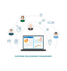 customer relationship management vector image vector image