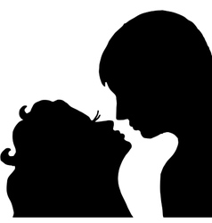 Pair Kiss Isolated on white background vector image vector image