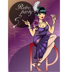 Retro Party Poster design vector image