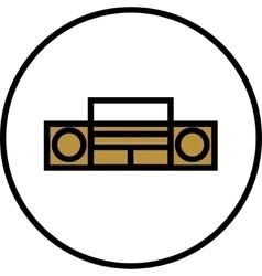 Tape recorder icon vector image vector image