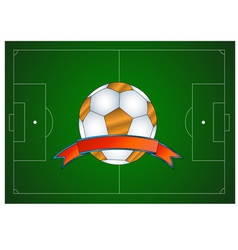 Ball icon in the field vector image