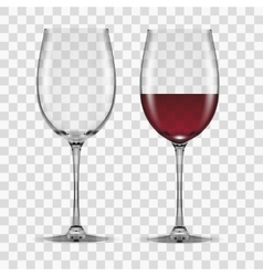 big reds wine glass empty and none vector image vector image