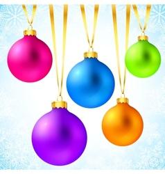 Bright colorful rainbow Christmas balls vector image vector image
