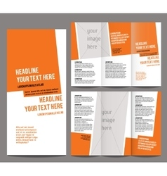 brochure design template trifold vector image