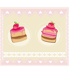 Lovely Pattern With cake Design vector image vector image
