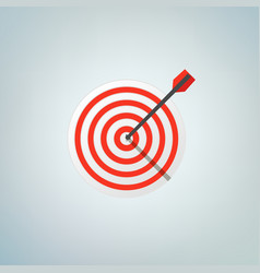 the arrow in bulls eye color vector image