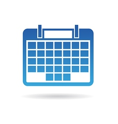 Calendar agenda for 31 days of month vector image vector image