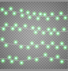 christmas garlands isolation on transparent vector image