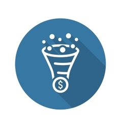 Conversion rate optimisation icon business vector
