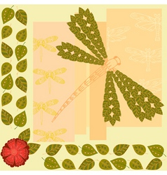 dragonfly background vector image vector image