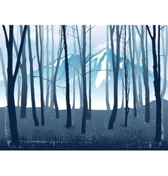 forest landscape with mountains vector image vector image