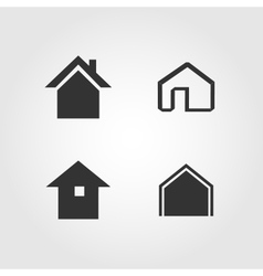 House icons set flat design vector image vector image