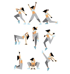 Modern dancers poses vector image