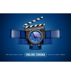 Online movie theater cinema vector image