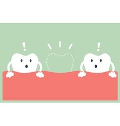 Broken teeth vector