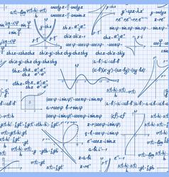 mathematics seamless pattern vector image vector image