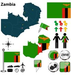 Zambia map vector image vector image