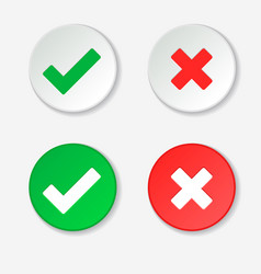 0002-checkmark green tick and red cross vector