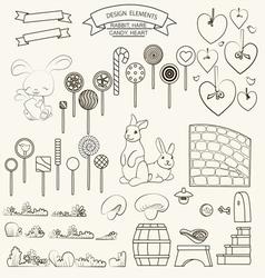 0415 15 rabbits and candy v vector image