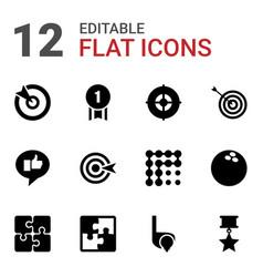 12 challenge icons vector