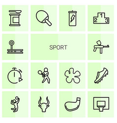 14 sport icons vector