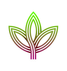 abstract gradients leaf logo vector image