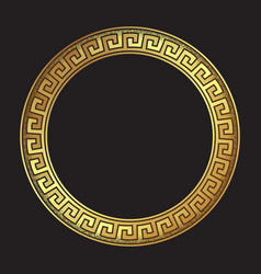 antique greek style gold meander ornament vector image