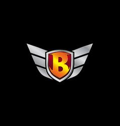 Auto guard letter b icon logo design concept vector