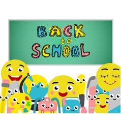 Back to school poster school supplies vector