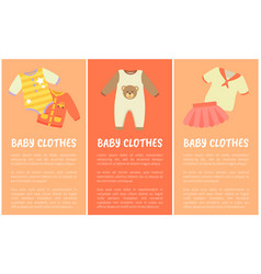 Baclothes three banners vector