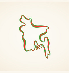 Bangladesh - outline map vector