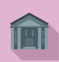bank courthouse icon flat style vector image