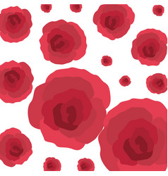 beautiful roses decorative pattern isolated icon vector image
